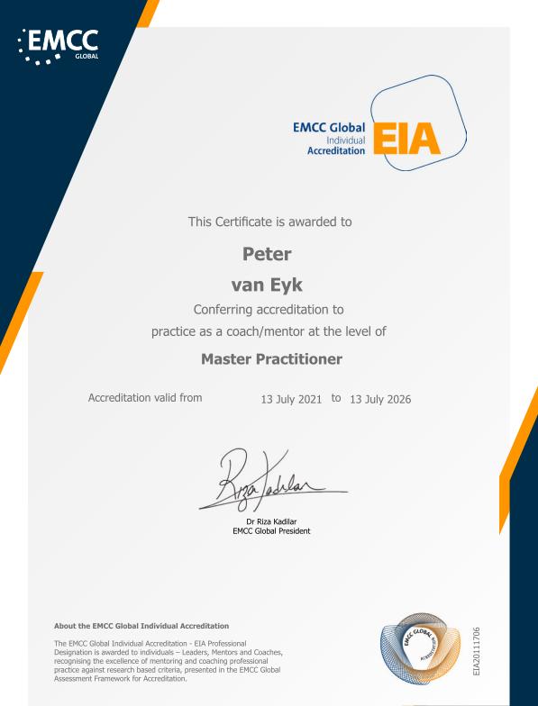EIA – Peter van Eyk